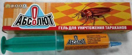 Как использовать гель Абсолют против тараканов